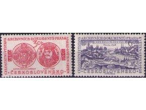 ČS 1958 / 0991-0992 / Výstava archívnych dokumentov **