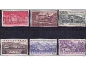 ČS 1958 / 1003-1008 / Čs. kúpele **