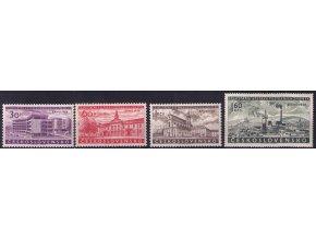 ČS 1958 / 1014-1017 / Výstava známok Brno 58 **