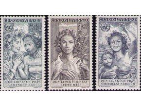 ČS 1959 / 1041-1043 / 10. výr. deklarácie ľudských práv **