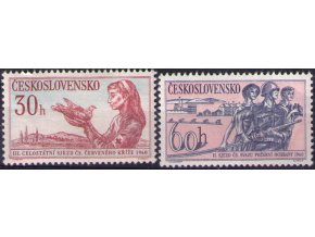 ČS 1960 / 1117-1118 / Čs. Červený kríž a Čs. požiarnici **