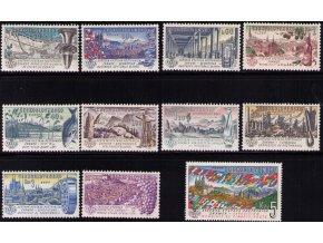 ČS 1206-1216 Svetová výstava pošt. známok Praga 62