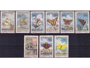 ČS 1961 / 1217-1225 / Motýle **
