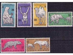 ČS 1962 / 1247-1252 / Zvieratá v našich ZOO **