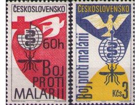 ČS 1962 / 1256-1257 / Boj proti malárii **