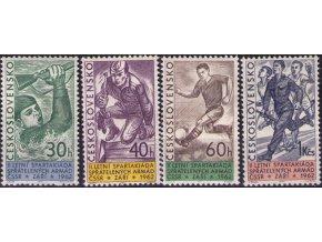 ČS 1962 / 1259-1262 / Spartakiáda spriatelených armád **