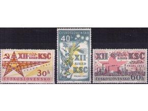 ČS 1962 / 1276-1278 / XII. zjazd KSČ **