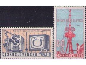 ČS 1963 / 1309-1310 / 10. výročie čs. TV **