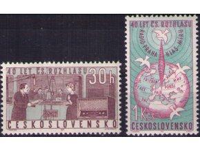 ČS 1963 / 1311-1312 / 40. výročie čs. rozhlasu **