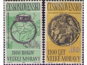 ČS 1963 / 1316-1317 / 1100. výročie Veľkej Moravy **