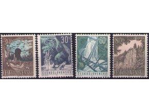 ČS 1963 / 1324-1327 / Moravský kras a Slovenský raj **
