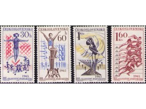 ČS 1965 / 1444-1447 / III. celoštátna spartakiáda **