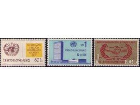 ČS 1454-1456 20. výročie OSN