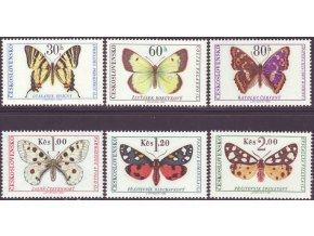 ČS 1966 / 1526-1531 / Motýle **