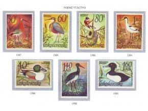 ČS 1587-1593 Vodné vtáctvo