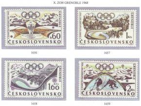 ČS 1968 / 1656-1659 / ZOH Grenoble **