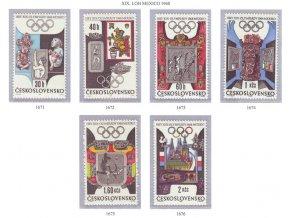 ČS 1968 / 1671-1676 / LOH Mexiko **