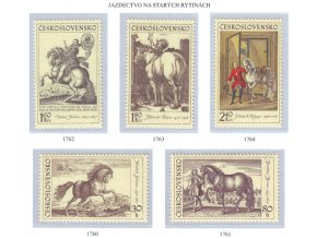 ČS 1760-1764 Jazdectvo - staré rytiny