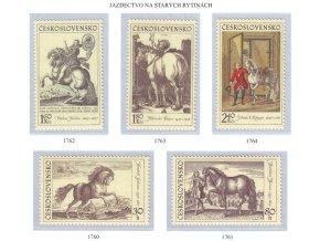 ČS 1969 / 1760-1764 / Jazdectvo - staré rytiny **