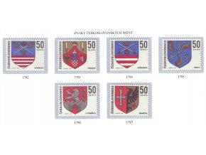 ČS 1969 / 1792-1797 / Znaky čs. miest **