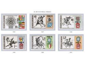 ČS 1970 / 1846-1851 / MS vo futbale Mexiko **