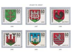 ČS 1971 / 1886-1891 / Znaky čs. miest **