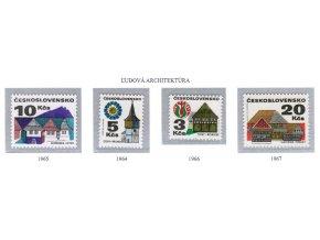 ČS 1964-1967 Ľudová architektúra (výplatné)