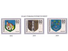 ČS 2032-2034 Znaky čs. miest