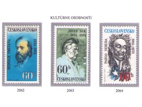 ČS 1974 / 2062-2064 / Kultúrne osobnosti **
