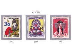 ČS 1974 / 2093-2095 / Výročia **