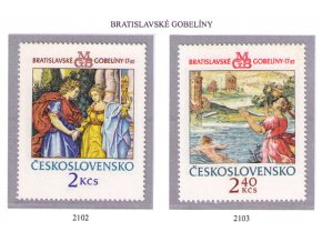 ČS 1974 / 2102-2103 / Bratislavské gobelíny I **