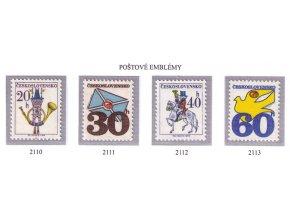 ČS 1974 / 2110-2113 / Poštové emblémy **