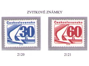 ČS 1975 / 2120-2121 / Zvitkové známky **