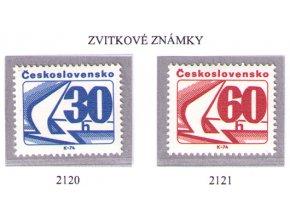 ČS 2120-2121 Zvitkové známky