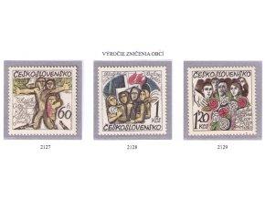 ČS 1975 / 2127-2129 / 30. výročie zničenia Českých a Slovenských obcí **