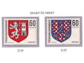ČS 2134-2135 Znaky čs. miest