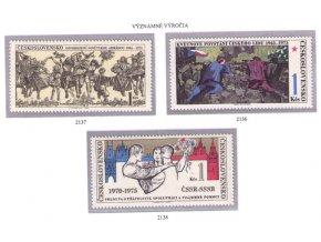 ČS 1975 / 2136-2138 / Významné výročia **