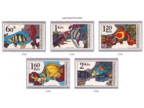 ČS 1975 / 2142-2146 / Akváriové ryby **