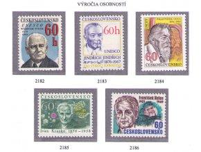 ČS 2182-2186 Výročia osobností