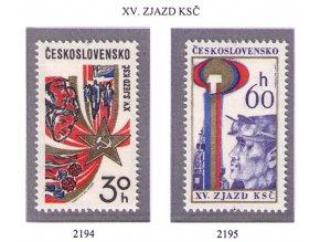 ČS 1976 / 2194-2195 / XV. zjazd KSČ **