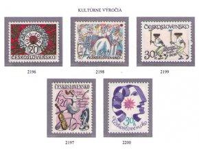 ČS 1976 / 2196-2200 / Kultúrne výročia **