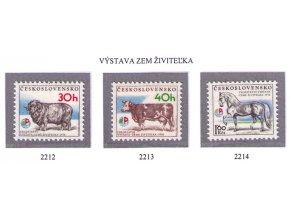 ČS 1976 / 2212-2214 / Výstava Zem živiteľka **