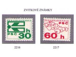 ČS 2216-2217 Zvitkové známky