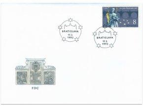 SR 1993 / 006 / sv. Ján Nepomucký FDC
