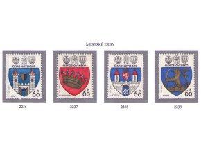 ČS 1977 / 2236-2239 / Znaky čs. miest **