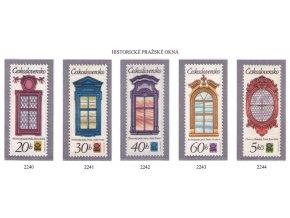 ČS 1977 / 2240-2244 / Pražské okná **