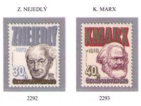 ČS 2292-2293 Z. Nejedlý, K. Marx