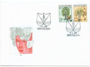 SR 1993 / 007-009 / Ochrana prírody - stromy FDC (2)