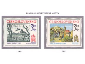 ČS 2311-2312 Bratislavské motívy