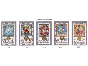 ČS 2378-2382 Zvieratá v heraldike